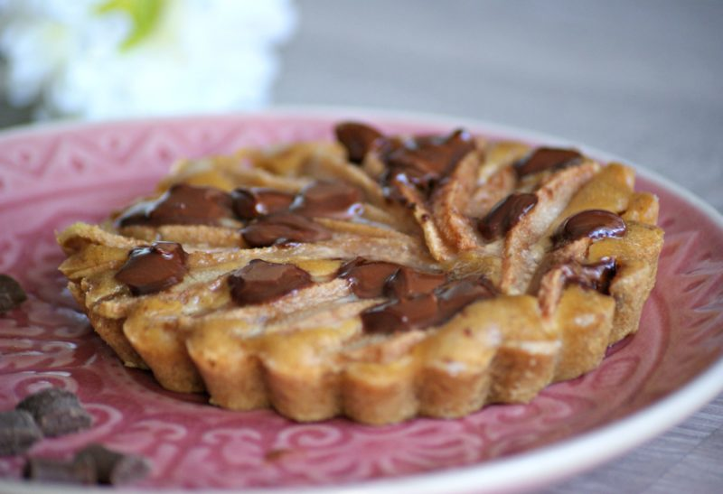 Tartelettes amandines poire et chocolat