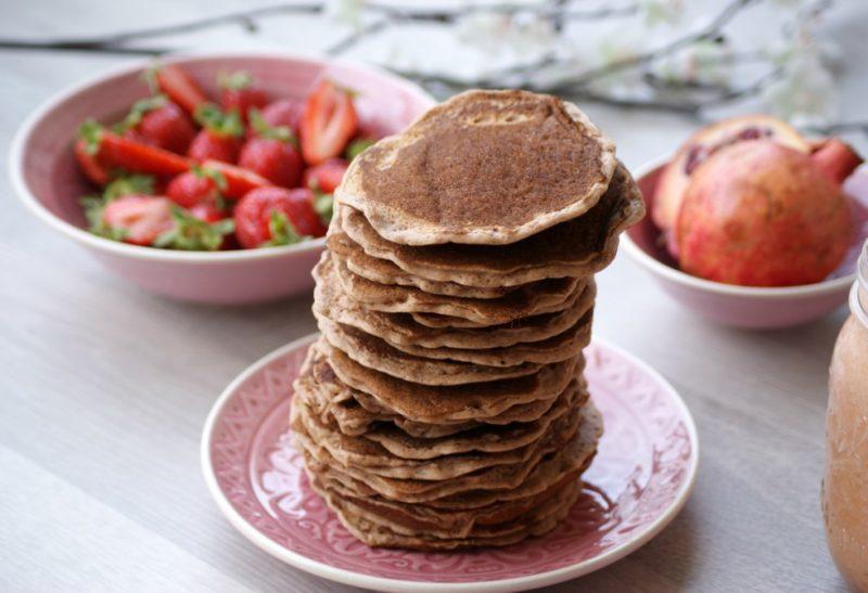 Pancakes aromatisés noisettes et chocolat