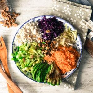 Salade d'hiver aux choux