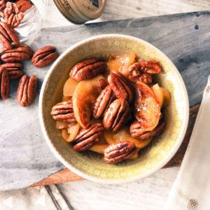 Délice de pommes & noix de pécan caramélisées