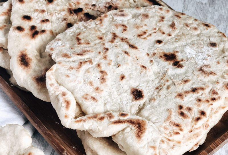 Petits pains «Naan» à la farine d'épeautre