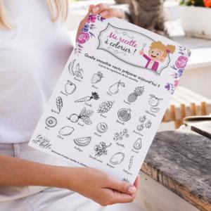 Découvrez les recettes à colorier pour enfants !