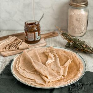 Crêpes à la vanille et au cidre