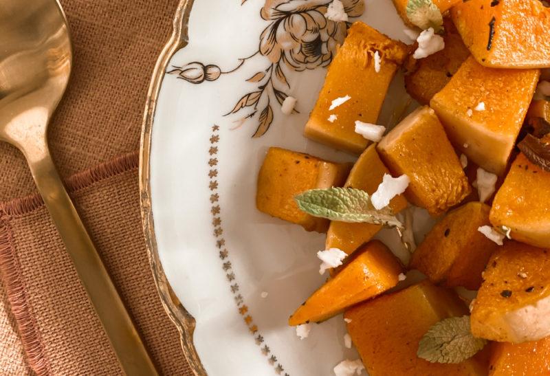 Butternut rôti aux épices et féta